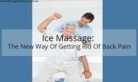 ice massage for back pain