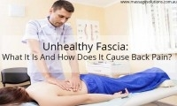 unhealthy fascia causing back pain