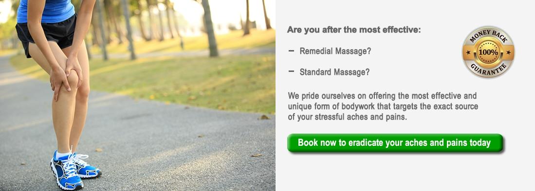 Remedial massage booking begin